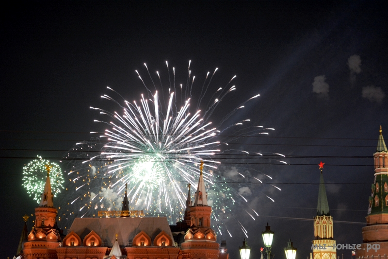 Салют Победы, Россия, Москва, Красная площадь 22-00, 9 мая, 2015 г.