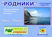 конкурс проектов РОДНИКИ 2016